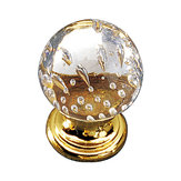 Traditional Glass and Metal Knob - 9923