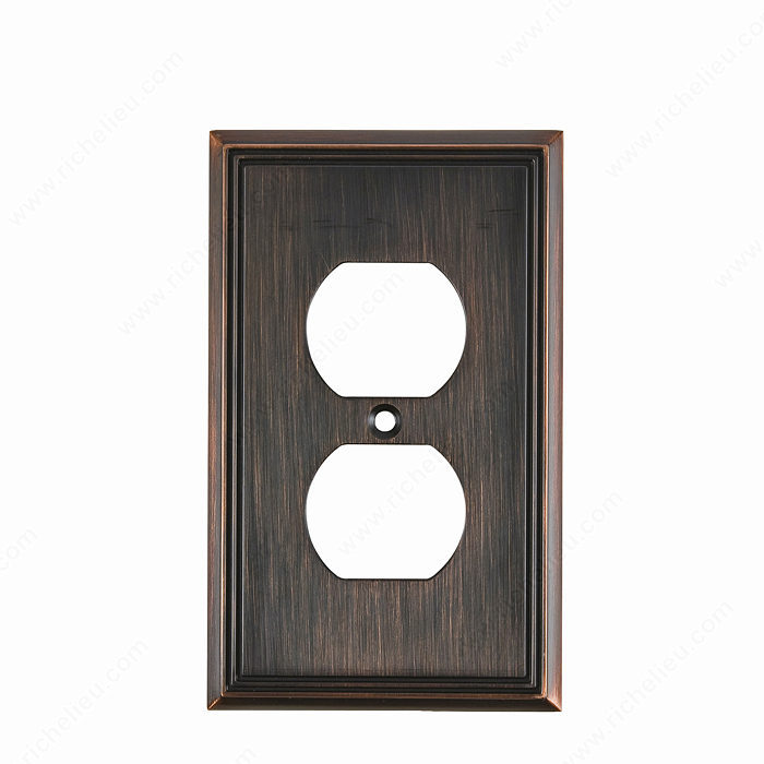 Switch plate Double Receptacle - Contemporary Style-1