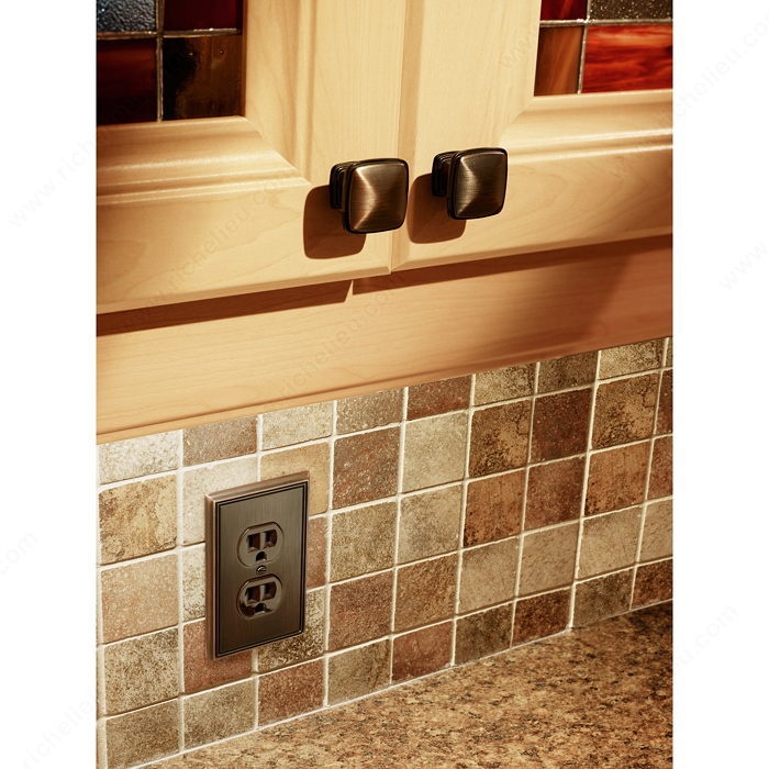 Switch plate Double Receptacle - Contemporary Style-2