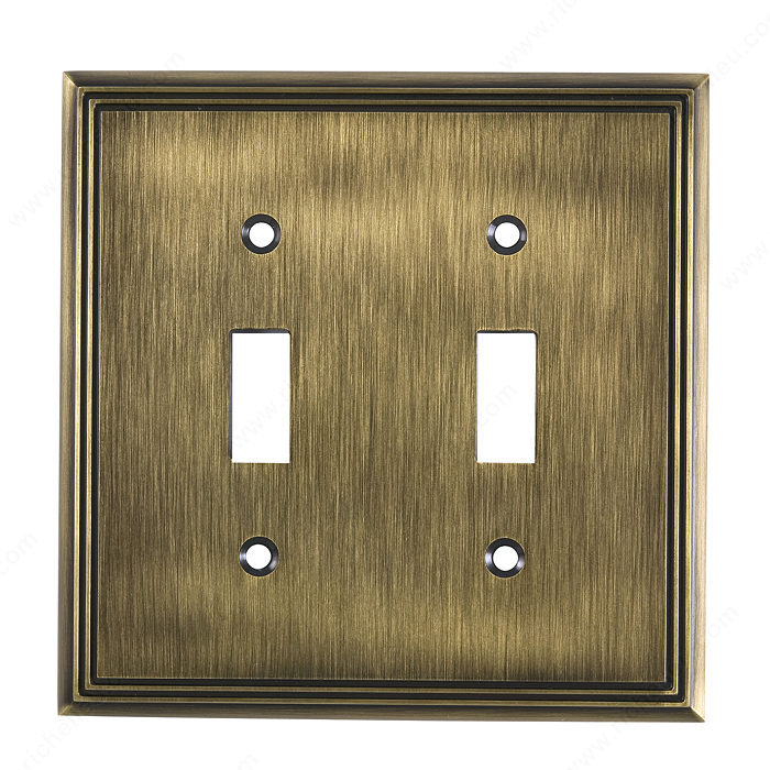 Switch Plate 2 Toggle Entries - Contemporary Style-1