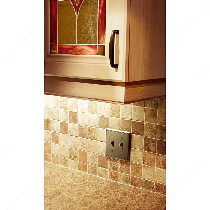 Switch Plate 2 Toggle Entries - Contemporary Style-2