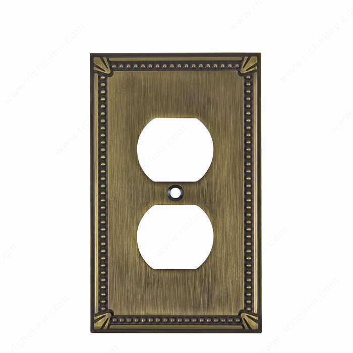 Switch plate Double Receptacle - Traditional Style-1