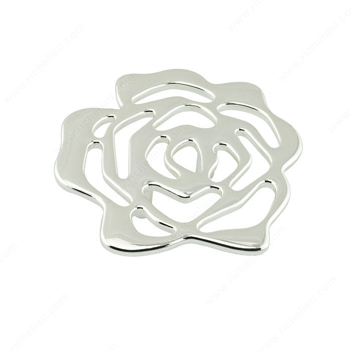 Contemporary Metal Flower Knob - 5163-1