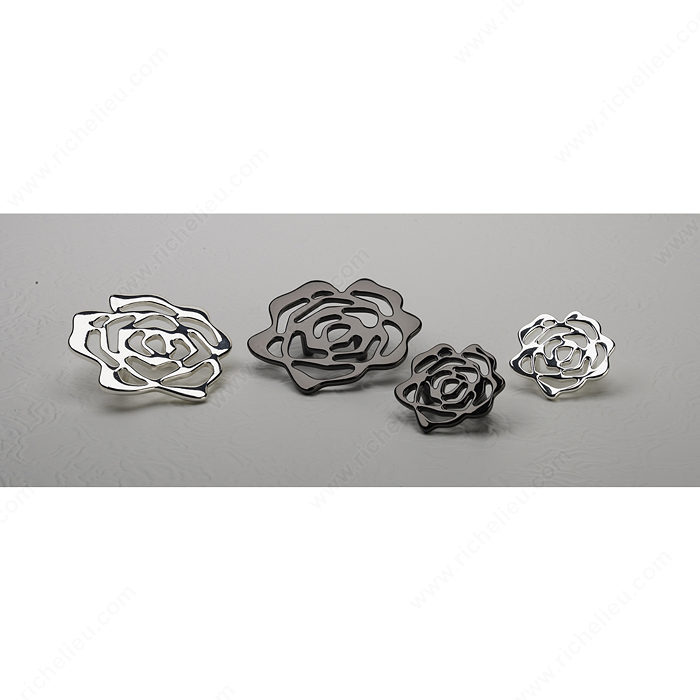 Contemporary Metal Flower Knob - 5163-3