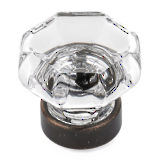 Eclectic Metal and Crystal Knob - 1007