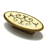 Traditional Brass and Enamel Knob - 2413
