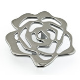 Contemporary Metal Flower Knob - 5163