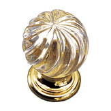 Traditional Brass and Crystal Knob - 9912