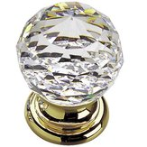 Traditional Brass and Swarovski Crystal Knob - 993