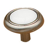 Eclectic Metal and Ceramic Knob - 3816