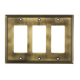 Switch plate 3 Decora - Contemporary Style